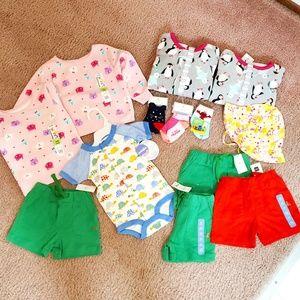x13 NWT Gap H&M Carters Girls Boys Clothes Bundle